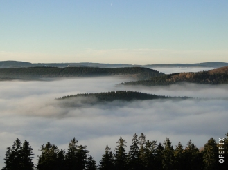Blick vom Bollerberg nach Winterberg