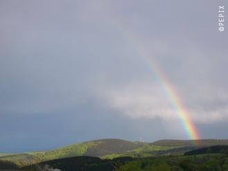 Regenbogen über dem Bollerberg