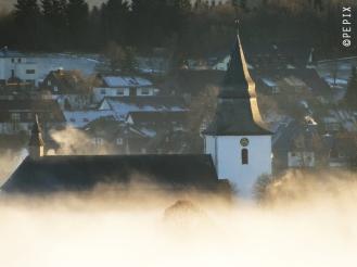 Winterberg im Nebel