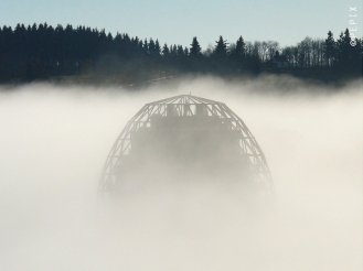 Oversum in Winterberg im Nebel