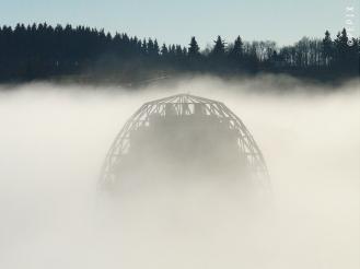 Oversum in Winterberg im Nebel
