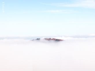 Nebelinsel vom Bollerberg aus gesehen