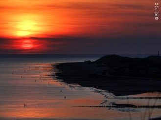 Sunset über Zoutelande